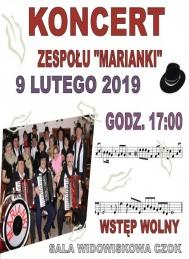 2019-02-09 Koncert Zespołu Marianki