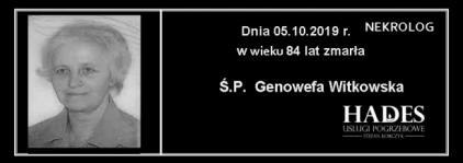Ś.P. Genowefa Witkowska