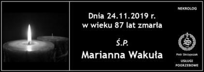 Ś.P. Marianna Wakuła