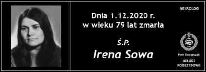 Ś.P. Irena Sowa