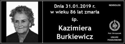 Ś.P. Kazimiera Burkiewicz