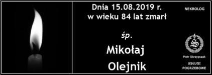 Ś.P. Mikołaj Olejniczak