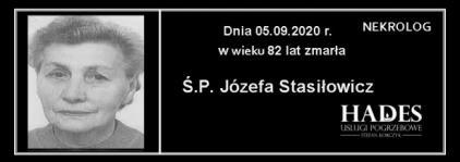 Ś.P. Józefa Stasiłowicz