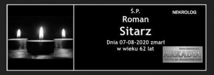 Ś.P. Roman Sitarz