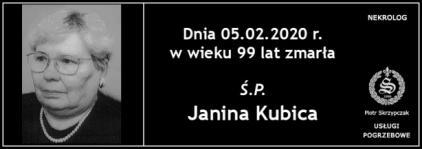Ś.P. Janina Kubica
