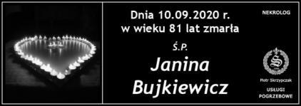 Ś.P. Janina Bujkiewicz
