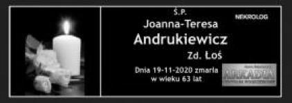 Ś.P. Joanna-Teresa Andrukiewicz