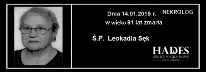 Ś.P. Leokadia Sęk
