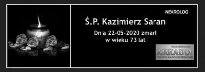 Ś.P. Kazimierz Saran
