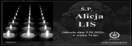 Ś.P. Alicja Lis