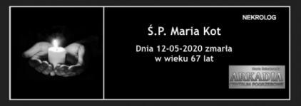 Ś.P. Maria Kot