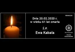 Ś.P. Ewa Kabała
