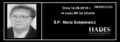 Ś.P. Maria Gołębiewicz