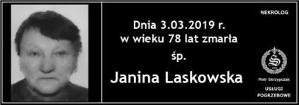 Ś.P. Janina Laskowska
