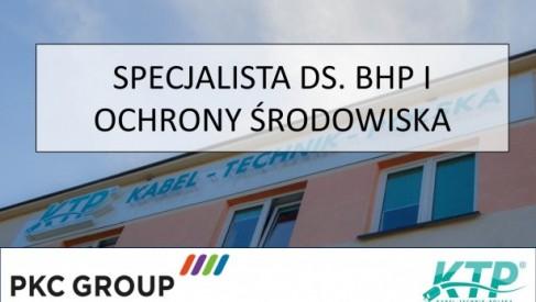 Praca: SPECJALISTA DS. BHP I OCHRONY ŚRODOWISKA w PKC Group Kabel-Technik-Polska Spółka z o.o.