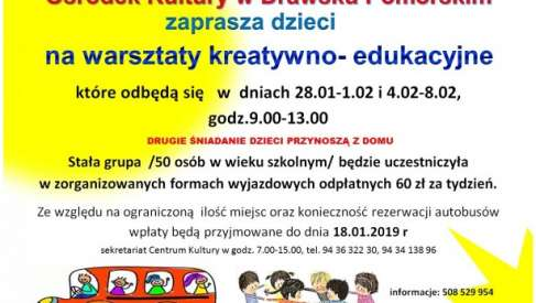 2019-01-28 do 02-08 Warsztaty na ferie w Drawsku Pomorskim