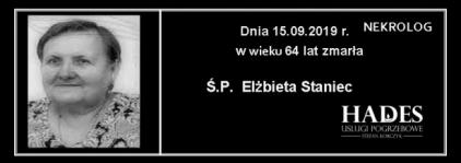 Ś.P. Elżbieta Staniec