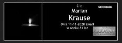 Ś.P. Marian Krause