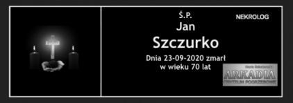 Ś.P. Jan Szczurko