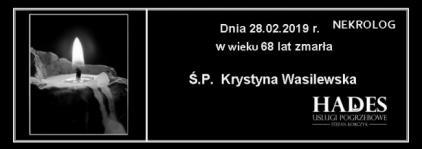 Ś.P. Krystyna Wasilewska