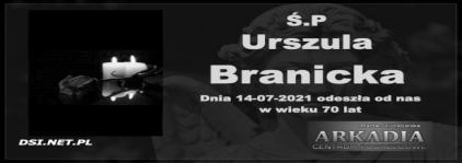 Ś.P. Urszula Branicka