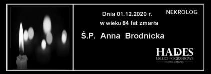 Ś.P. Anna Brodnicka