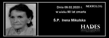 Ś.P. Irena Mikulska