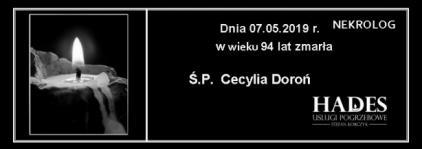 Ś.P. Cecylia Doroń