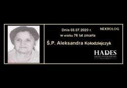Ś.P. Aleksandra Kołodziejczyk