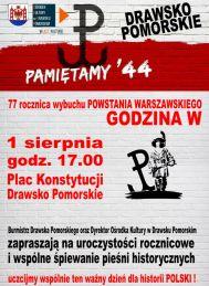 2021-08-01 Wspólne śpiewanie w 77 rocznicę Powstania Warszawskiego