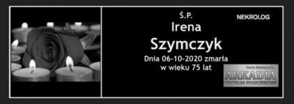 Ś.P. Irena Szymczyk