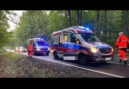 Wypadek pomiędzy Złocieńcem a Czaplinkiem. Zdjęcia