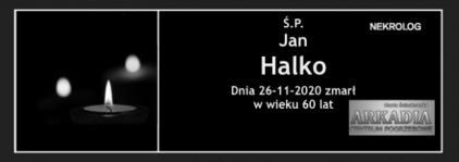 Ś.P. Jan Halko