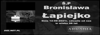 Ś.P. Bronisława Łapiejko