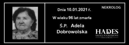 Ś.P. Adela Dobrowolska