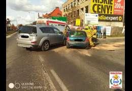 Na Mickiewicza w Złocieńcu doszło do zderzenia dwóch pojazdów