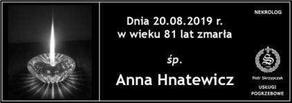 Ś.P.  Anna Hnatewicz