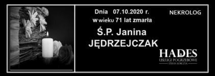 Ś.P. Janina Jędrzejczak