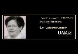 Ś.P. Czesława Olender