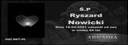 Ś.P. Ryszard Nowicki