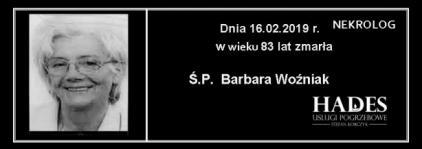 Ś.P. Barbara Woźniak