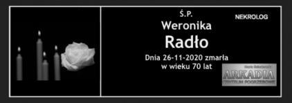 Ś.P. Weronika Radło