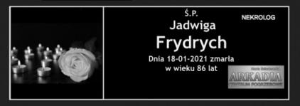 Ś.P. Jadwiga Frydrych