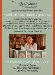 2020-01-31 Spotkanie z prof. Haliną Zgółkową