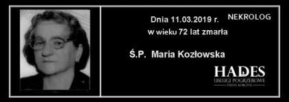 Ś.P. Maria Kozłowska