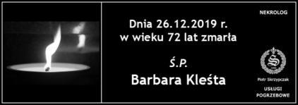 Ś.P. Barbara Kleśta