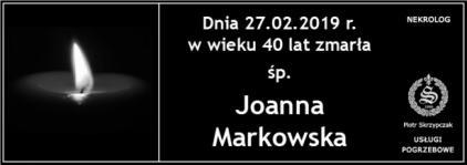 Ś.P. Joanna Markowska