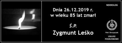 Ś.P. Zygmunt Leśko