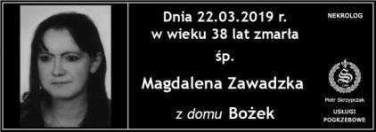 Ś.P. Magdalena Zawadzka z domu Bożek