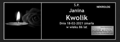 Ś.P. Janina Kwolik